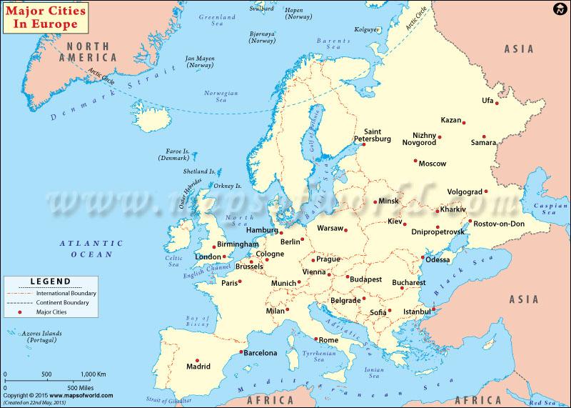 European Cities, Cities in Europe, Major Cities in Europe