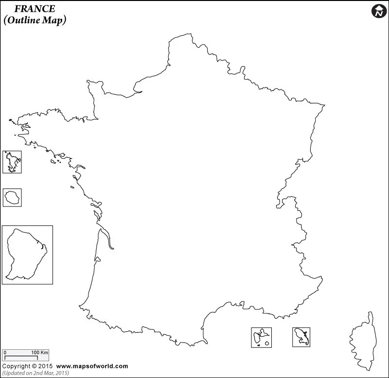 Blank Map of France France Outline Map