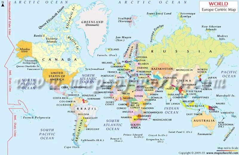Eurocentric World Map