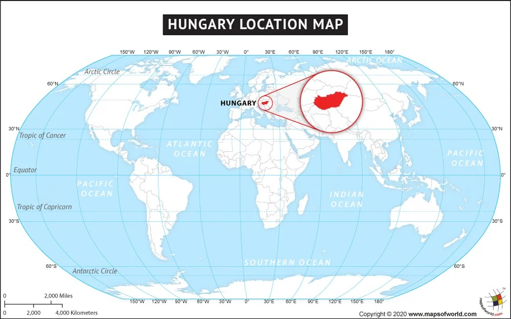 Where is Hungary Located? Location map of Hungary - best of world map hungary syria