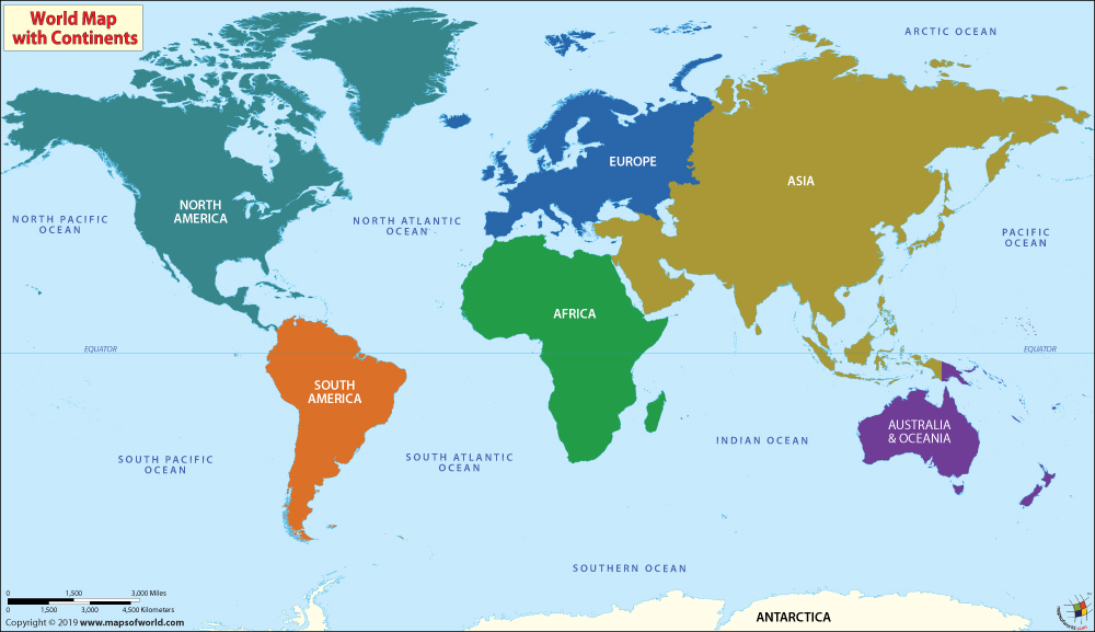 Continents of the World, Map of Continents - best of locate places on world map game