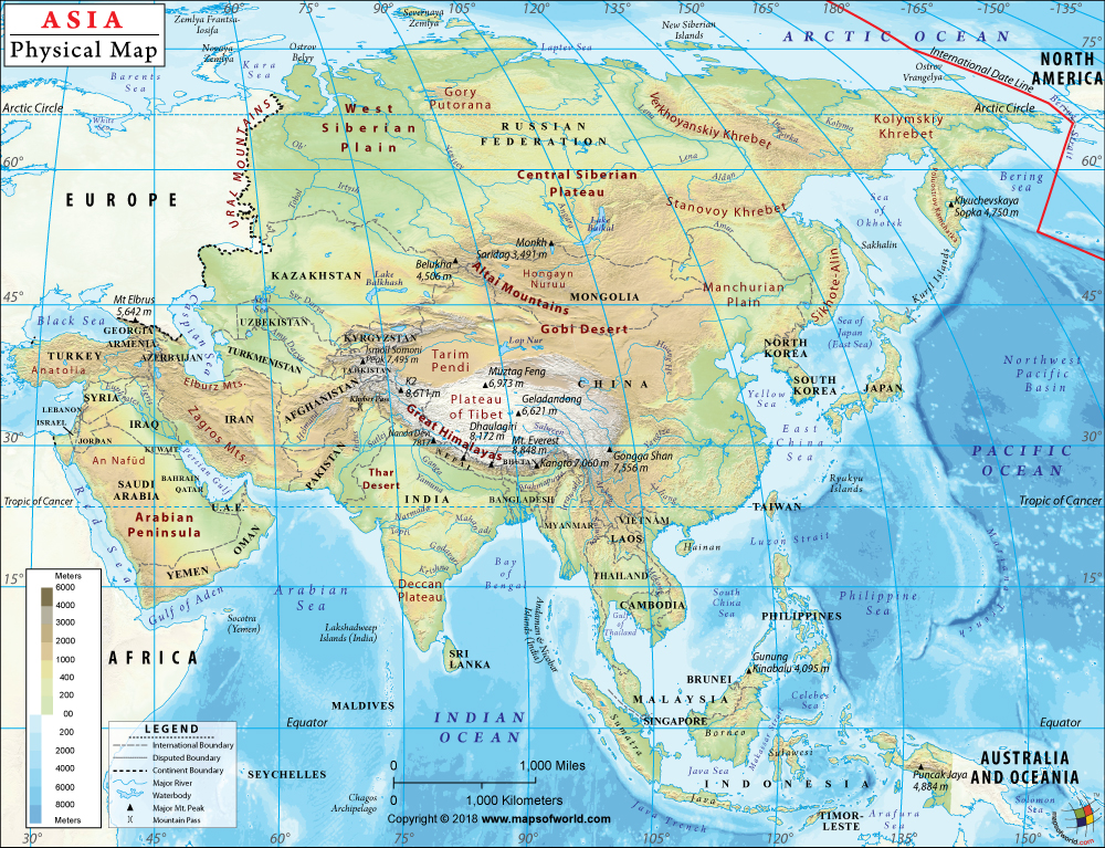 Printable Map Of Asia With Countries And Capitals Noavg Me ... on