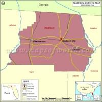 Madison County Map, Florida