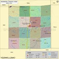 Madison County Map, Iowa