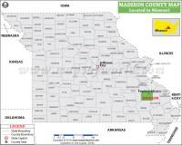 Madison County Map, Missouri