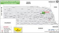 Madison County Map, Nebraska