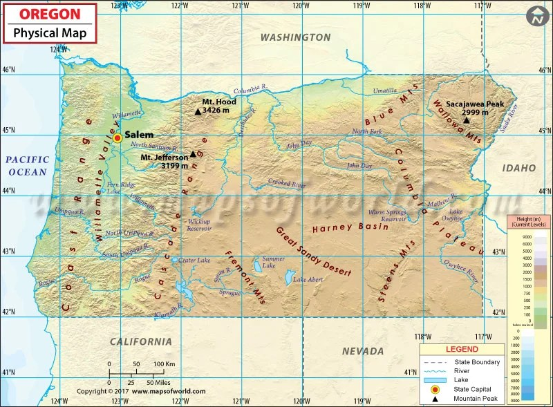 Independence Day Wallpaper Hd 2017 Download Physical Map Of Oregon Oregon Physical Map