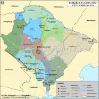 Berkeley County Map, South Carolina