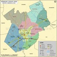 Kershaw County Map, South Carolina