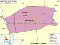 Madison County Map | Map of Madison County, Texas