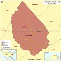 Madison County Map, Virginia