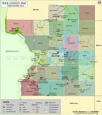 Polk County Map, Wisconsin