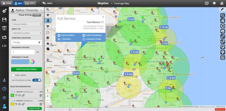 Custom Map Creator  Map Maker Maptive