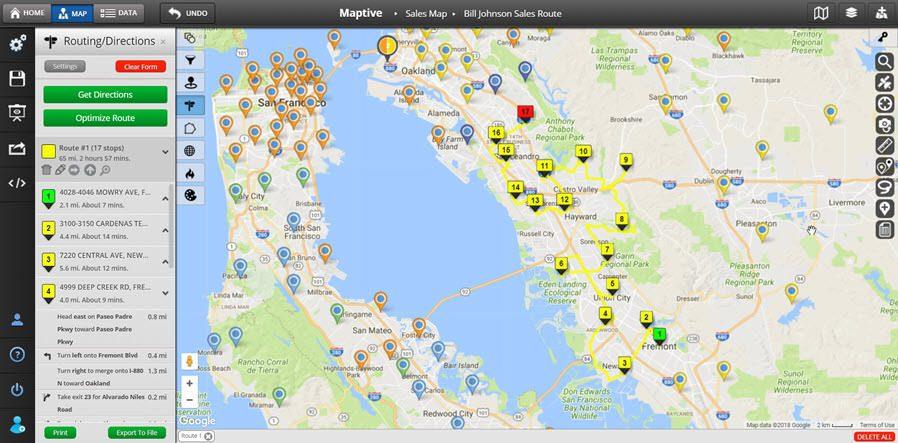 Custom Map Creator  Map Maker Maptive - trip maker software