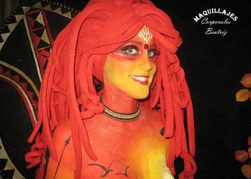 Body painting Carnavales de Águilas 2010