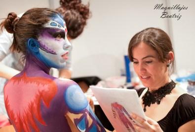 Tercer premio Jesal Extetic 2012. Beatriz Martínez realiza el maquillaje
