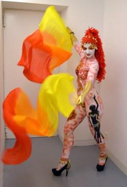 Maquillaje corporal Mil y una noche carnavales Águilas 2º premio Beatriz Martínez