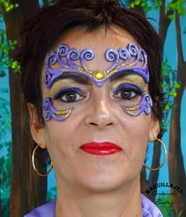 Maquillaje de fantasía con prótesis para moros y cristianos