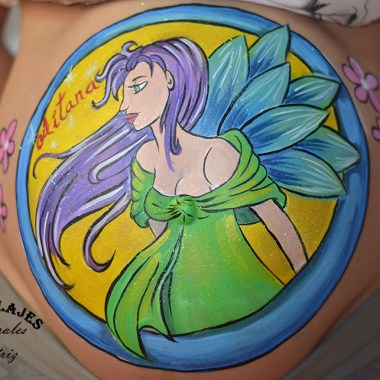 Belly painting de un hada