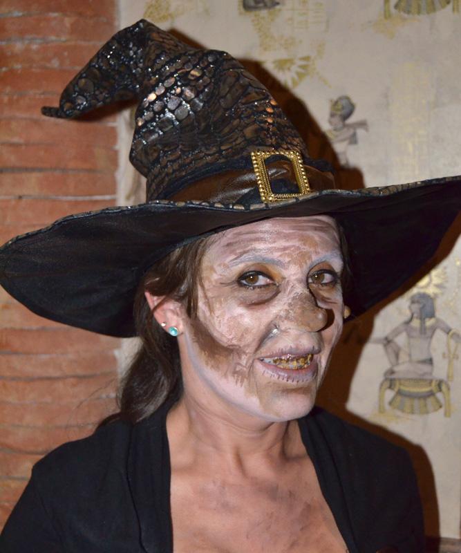 Caracterización maquillaje Halloween bruja Murcia