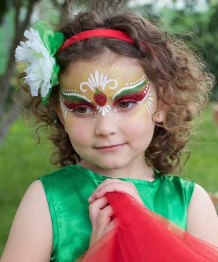 Pintacaras Maquillaje infantil fresa