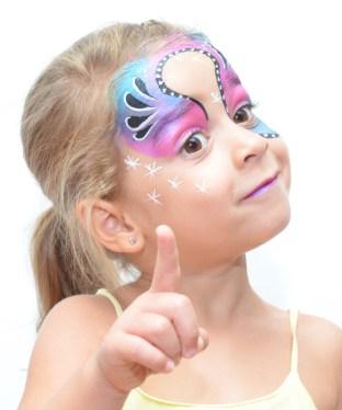 Pintacaras Maquillaje infantil de princesa
