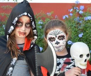 Maquillaje infantil Catrina y zombie