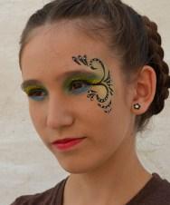 Maquillaje de fantasía. Comparsa Kimera