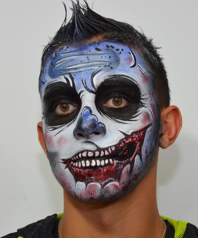 Maquillaje halloween zombie herida boca