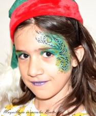 Face painting gorro navidad