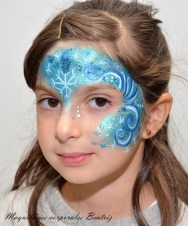 maquillaje infantil Frozen fiesta infantil