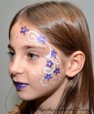 Maquillaje infantil fantasía flores
