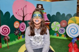face painting pavo real