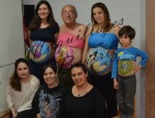 Maquillajes en barrigas de hombre, niño y embarazadas