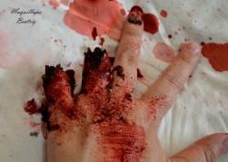 Maquillaje dedos amputados