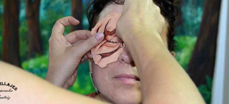 Herida con espuma de látex