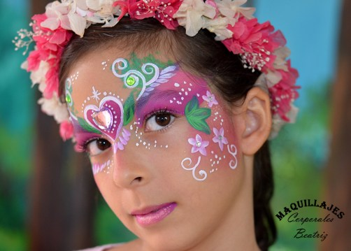 Pintacaras de princesa con brillantes