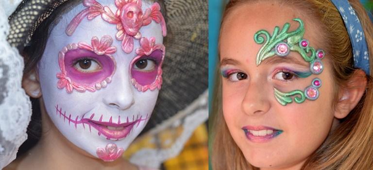 Sesión fotográfica de maquillaje de fantasía infantil
