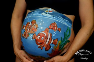 Belly painting Nemo 1