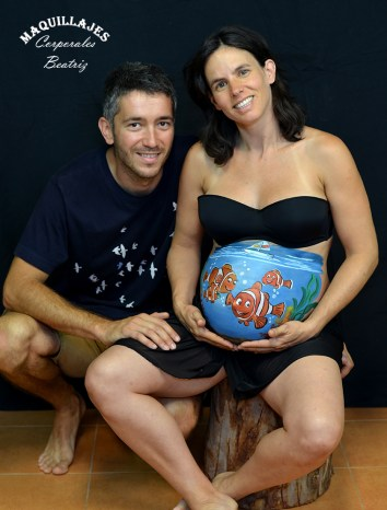 Belly painting Nemo 2