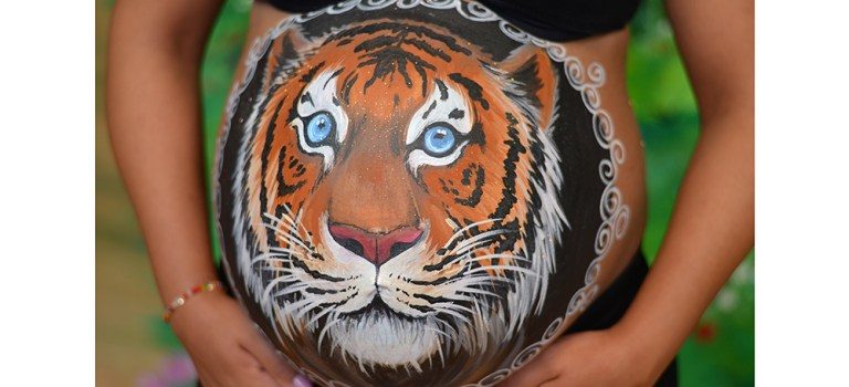 Belly painting de tigre