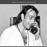 Sanjay Dutt talking on phone in jail