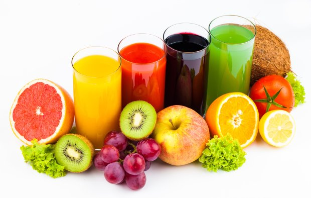 Tasty healthy fruit juices