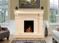 Bridge Marble Fireplace in Cream Marfil | Marble ...