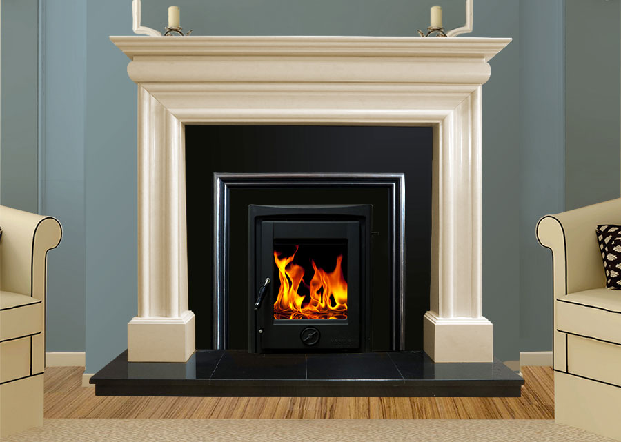 Wexford Marble Fireplace In Ivory Pearl Marble