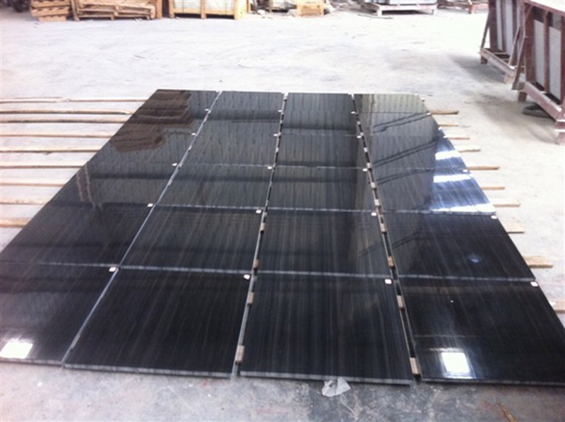 Wooden Black Marble Tiles China Wooden Black Marble