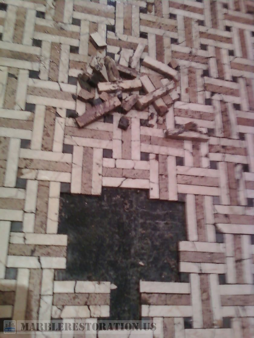 Mosaic Floor Patching And Restoration