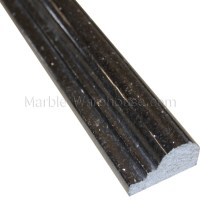 "Black Galaxy Granite Chair Rail - 2 1/4""x12"""