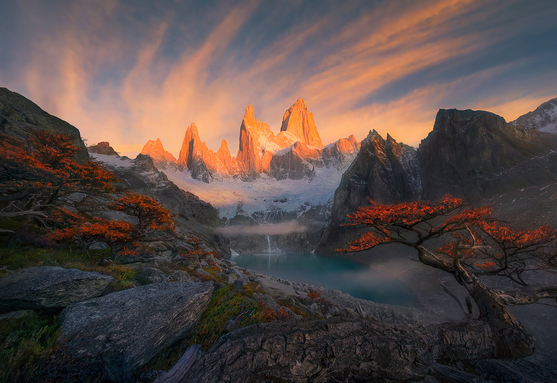 Ice Fall Wallpaper Fall Fitz Roy Patagonia Marc Adamus Photography