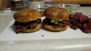 Prime Sirloin Sliders topped with Cropwell Bishop Stilton